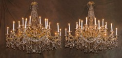 Pair of Belle Epoch Chandeliers