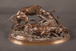 "French 19th Century Animalier Bronze by ""Moigniez"""