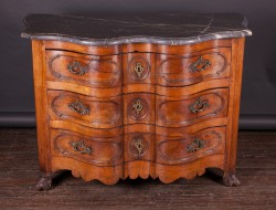 Beautiful French 18th Century Louis XV Walnut Chest