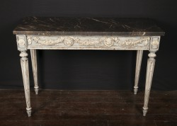 Pair of French 18th Century Louis XVI Carved and Painted Consoles