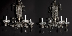Pair of 20th century Empire Chandeliers