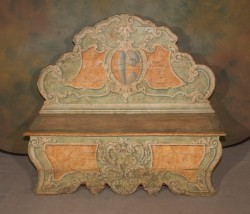 Italian 19th Century Painted Bench