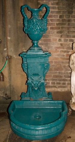 Neoclassic 19th Century Iron Wall Fountain