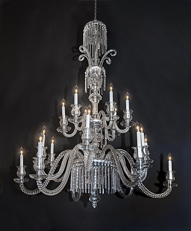 French 19th century 2 tier 18 light Baccarat Crystal Chandelier. This  chandelier features cut crystal arms, cut crystal center, marked Baccarat  on each ... - 19th Century Baccarat Crystal Chandelier French Antique Shop