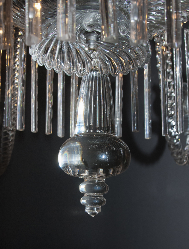 19th Century Baccarat Crystal Chandelier French Antique Shop