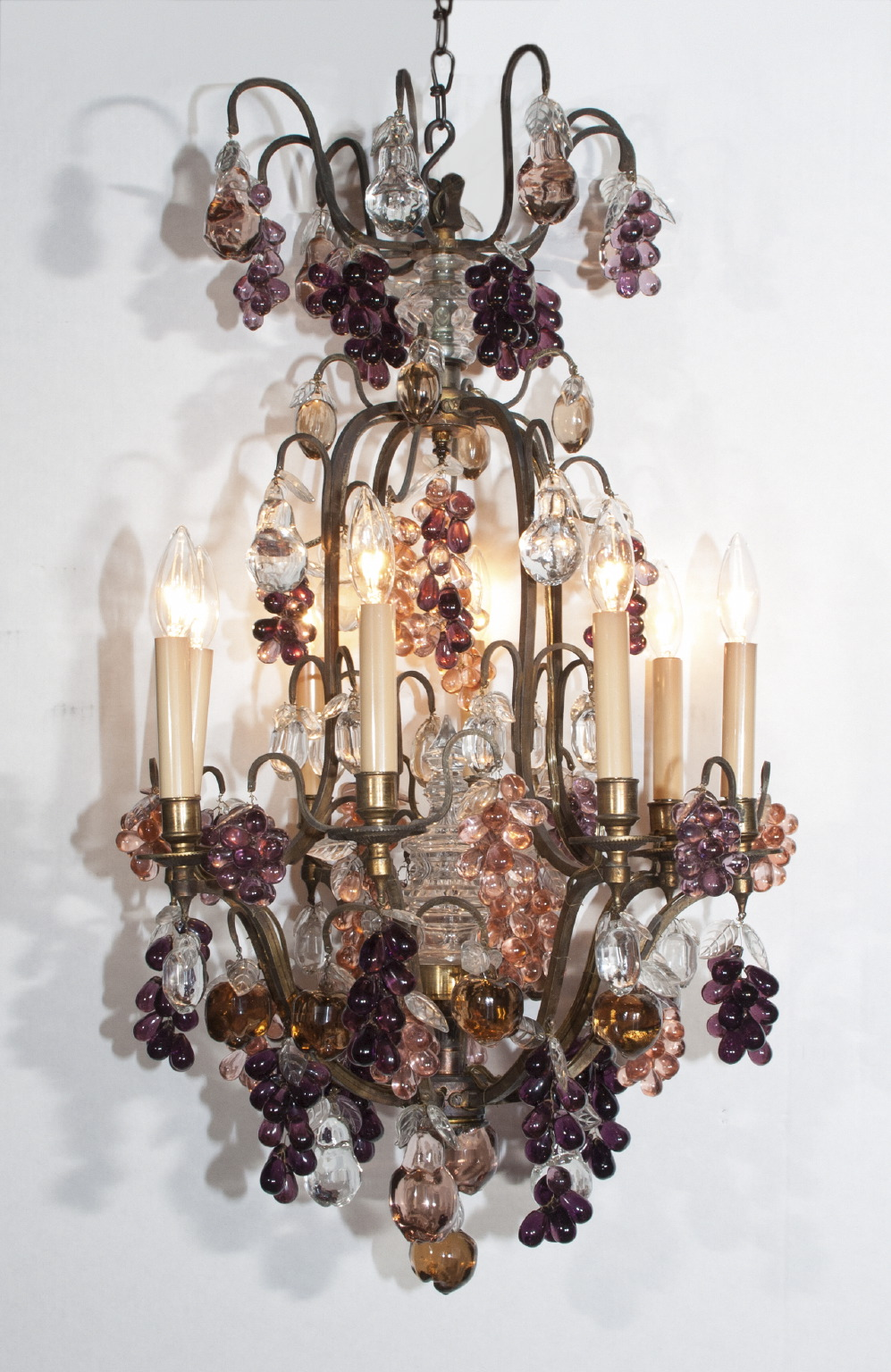 Louis XV Bronze and Baccarat Crystal Chandelier - Louis XV Bronze And Baccarat Crystal Chandelier French Antique Shop