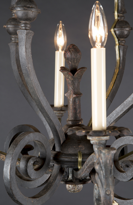 French cast iron chandelier french antique shop french cast iron chandelier with crown at the top aloadofball Gallery
