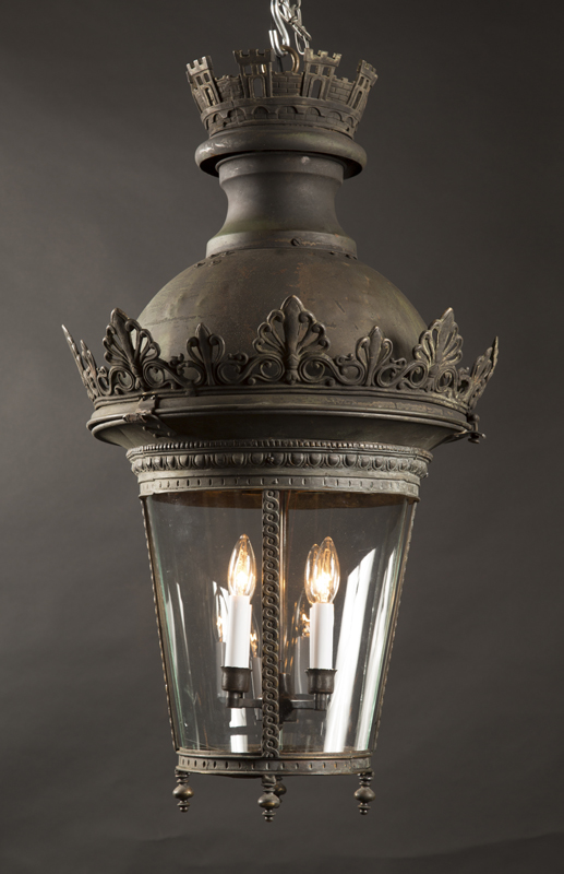19th Century Old Parisian Street Light French Antique